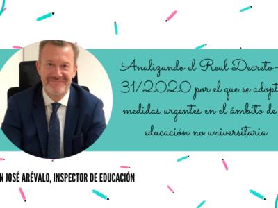 Real Decreto-ley 31/2020 por el que se adoptan medidas urgentes en el ámbito de la educación no universitaria
